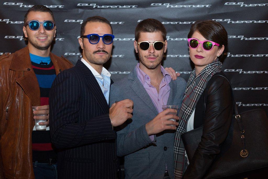 Valerio Pappalardo, Andrea Cimatti, Lucio Zannoni e Isabel Izzie al party di Italia Independent organizzato da Andrea Cimatti