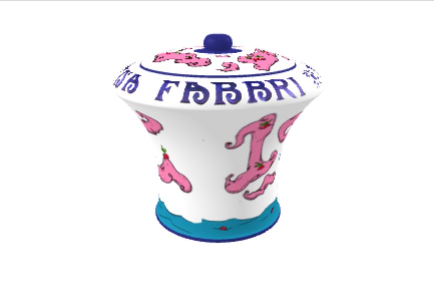 Amarena Fabbri vaso seconda vista disegno luca noce