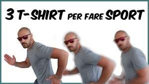 una selezione di 3 tshirt che potete acquistare per fare allenamento
