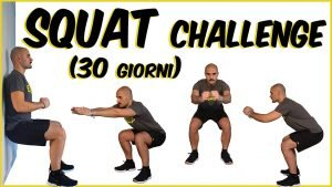 Pronti per la squat challenge da fare assieme